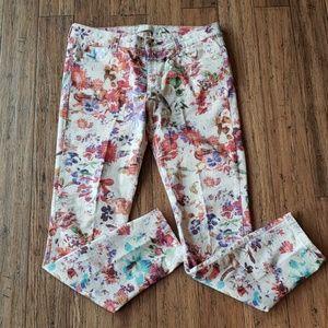 Zara Basic Floral Print Jeans